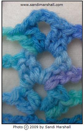 ocean yarn crocheted shells