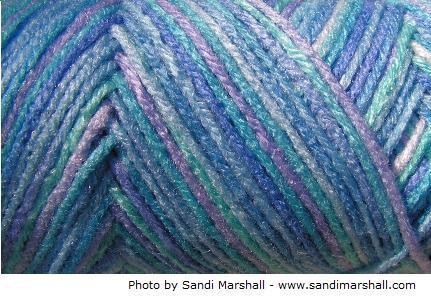 multicolor ocean Red Heart yarn skein