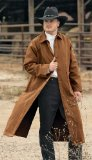 old west style duster coat  similar to frock coat styles
