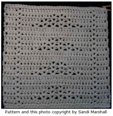 Triangle Vs Afghan Square Free Crochet Pattern Sm Crafts