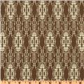 sewing fabric material brown Bohemian design Lilliput Fields Ancient Taupe