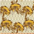 Lilliput Fields Complicated Ivory Bohemian fabric design tan yellow taupe